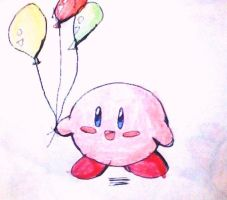 kirby baloons by ninpeachlover