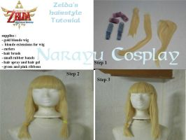Zelda's hairstyle from Skyward Sword part 1 by Narayu