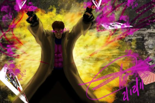 Gambit's agression by rock8034