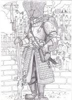 imperial guard vostroyan 2 fineliner by savagehenry89