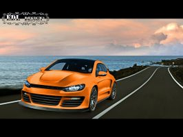 VW SCIROCCO -orange- by edl by EDLdesign