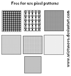 Free for use: Pixel patterns by Aristanova