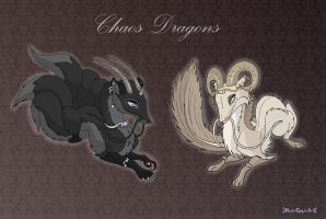 [Closed] Commission: Chaos Dragons by MySweetQueen