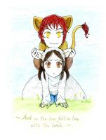 The Lion and the Lamb by Lidaru