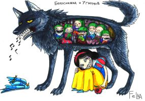 SnowWhite and the Seven Dwarfs by Turborg