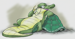 Sketchbook - Snooty Gator by fnook