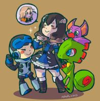 NewGen - Mighty No9 + Yooka Loylee + Bloodstained by Mikoto-chan