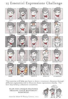 Mako chibis - 25 Essential Expressions Challenge by silverteahouse