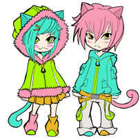 Neko Kids, by Nintentro