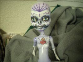Day of the Dead MH Doll WIP by AnielaAbair