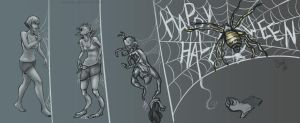 Cross Spider Halloween TF .: Commission :. by Janexas