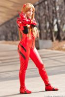 Asuka Langley cosplay by HeavenAndSky