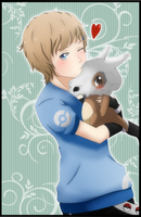 Rina and Cubone. by x-Caffeine