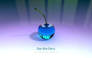 Clear Blue Cherry - 3D Glass by THE-LEMON-WATCH