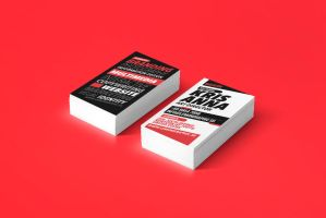 Matator red typography business card design by Lemongraphic