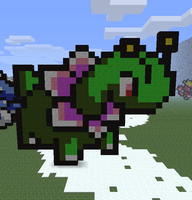 Minecraft- Meganium by aprilgoddess