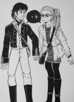 Inktober - Young Captain Swan by ColorMyMemory