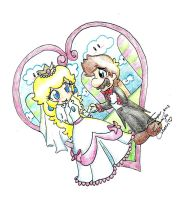 Peach and Mario wedding day by SuperTawaifaQueen