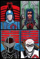 4x6 GI Joe tribute cards by Dr-Twistid