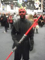 London MCM Expo - Darth Maul Cosplayer by DoctorWhoOne