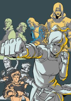 Dvd Cover Art For 'THE LEGEND OF KORRA' by blacksataguni