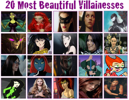 CGD64 Top 20 Most Beautiful Villainesses by CrazyGamerDragon64