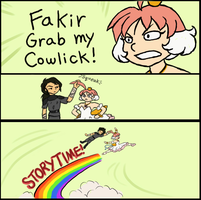 FAKIR GRAB MY COWLICK by AkiAmeko