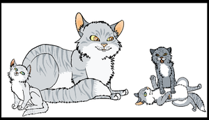 Cat Family by sealkisses