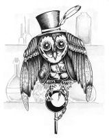 For DQ Games: Clockwork Owl by ceredwyn