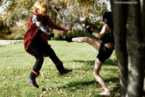 Full Metal Alchemist Cosplay: Ed VS Envy by viewtifu1