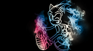 Sonic smoke wallpaper by hyalokinesis
