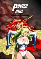 Power Girl and Maxima - Mindgames by adamantis