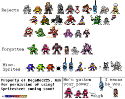 Rejected and Forgotten Robot Masters OCs by MegaRed225
