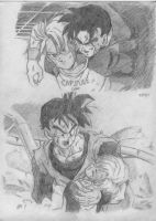 future trunks and gohan by Rider4Z