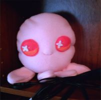 Pink Octopus Cushion by hellohappycrafts