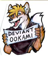 Badge Ookami by lady-cybercat