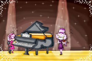 Musical duet by ninpeachlover