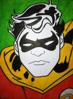 Sketch #1: Robin, Boy Wonder by pascalscribbles