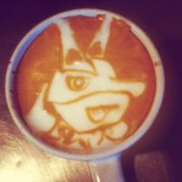 Lucario latte by CappuccinoFrosting