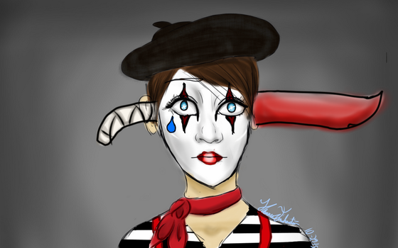 The Mime by Eriartist