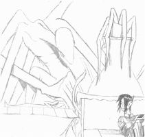 Slender Man Encounter sketch by THEEXILESAUTHOR