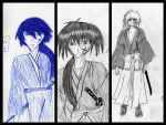 Kenshin 1st 2nd and 3rd Attempt by katerinaaqu