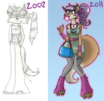 Phoebe then and now by Ellenocalypse