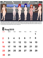 August 2015 Calendar by quamp