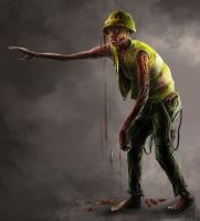 building site zombie by biniolthezebr