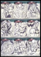 Marvel sketch cards by johnsonverse