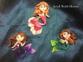 clay mermaids by b3ttsy