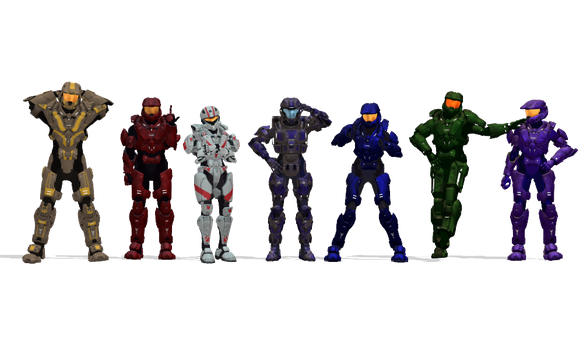 My RvB Characters by AshenCrystal