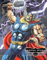 Thor - God of Thunder by corvus1970