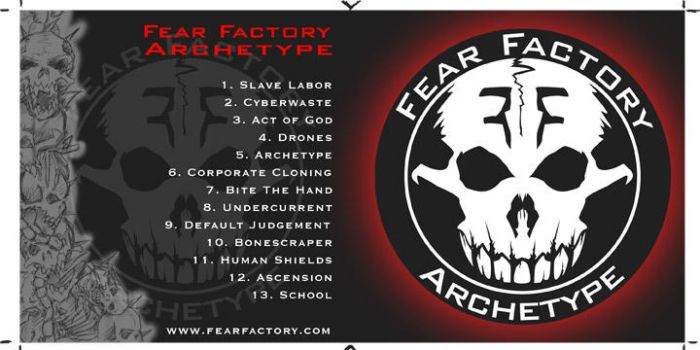 fear factory cd booklet by natenation